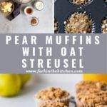 pear oat muffin pinterest image