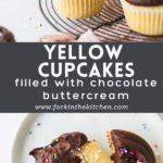 Yellow cupcakes pinterest image