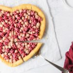 giant heart cookie with star buttercream frosting