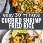 curried shrimp fried rice pinterest image