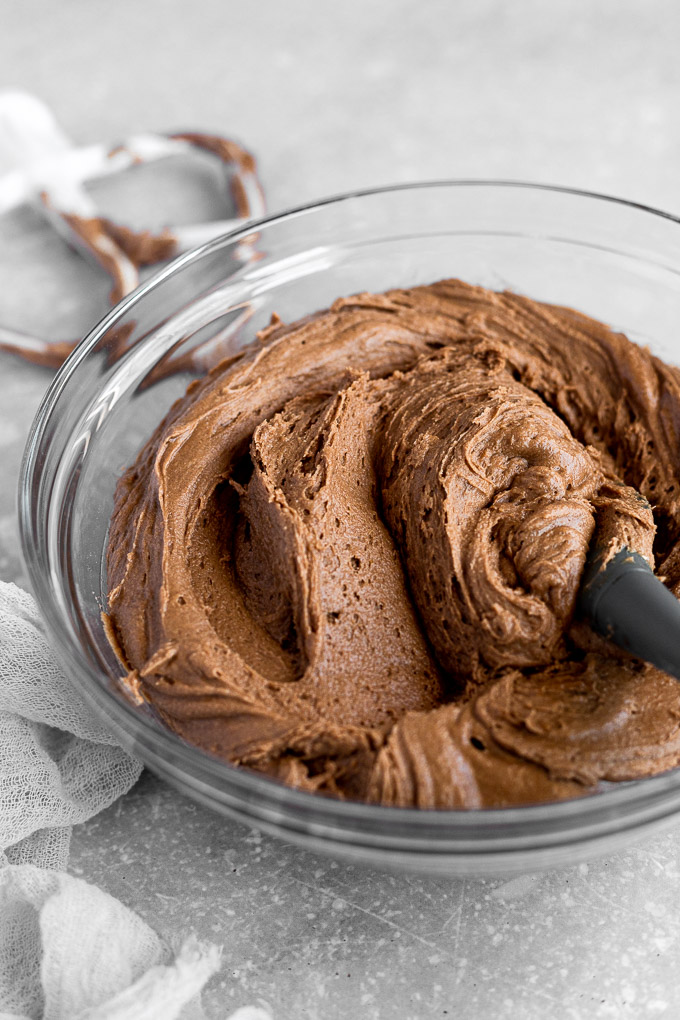 bowl of chocolate cookie dough