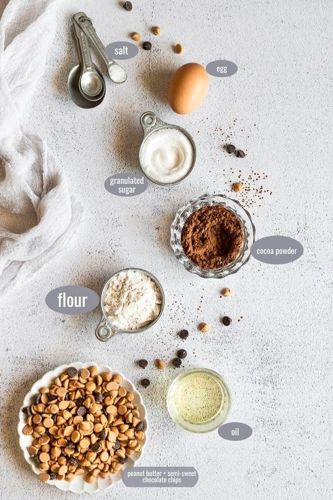 peanut butter brownie skillet ingredient photo
