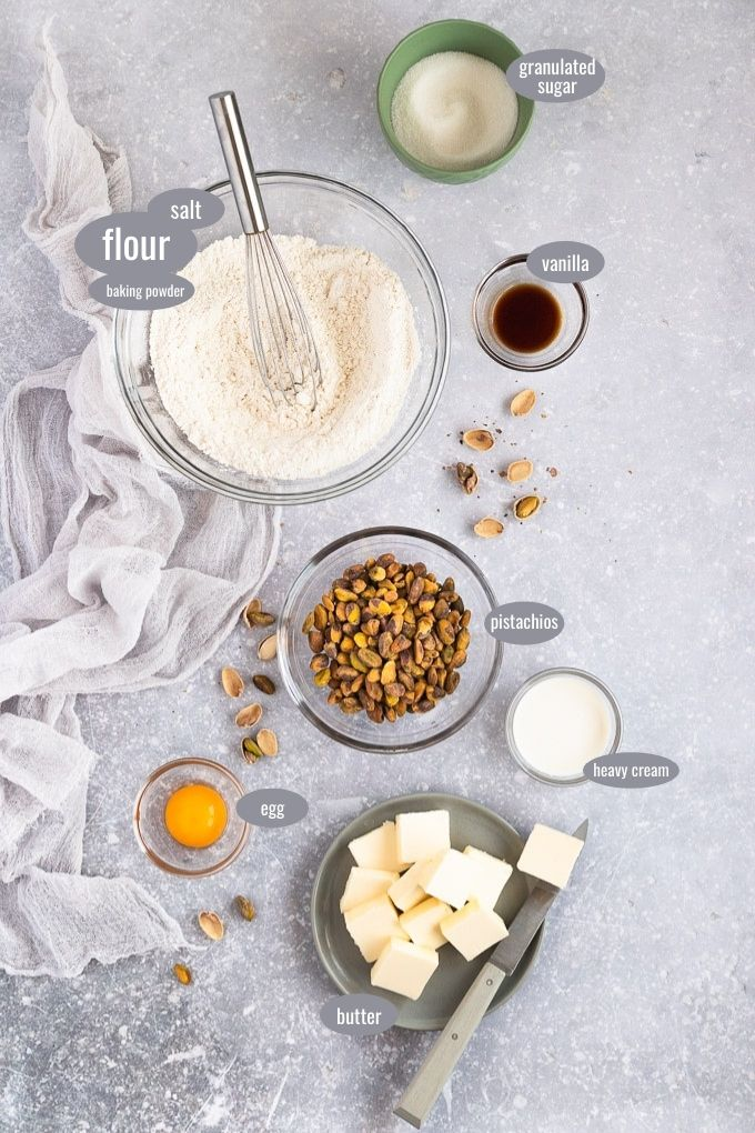 pistachio butter cookie ingredients