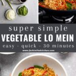 vegetable lo mein pinterest image