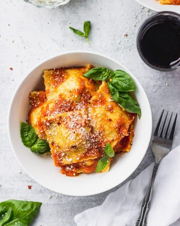 Google Web Stories Cover - Homemade Cheese Ravioli