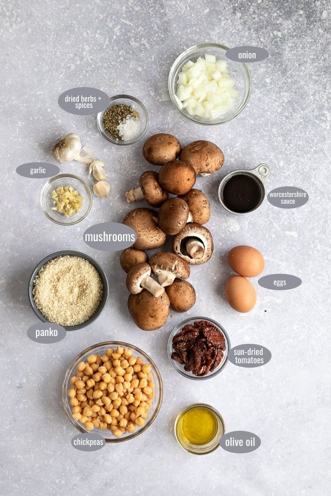 vegetarian meatball ingredients