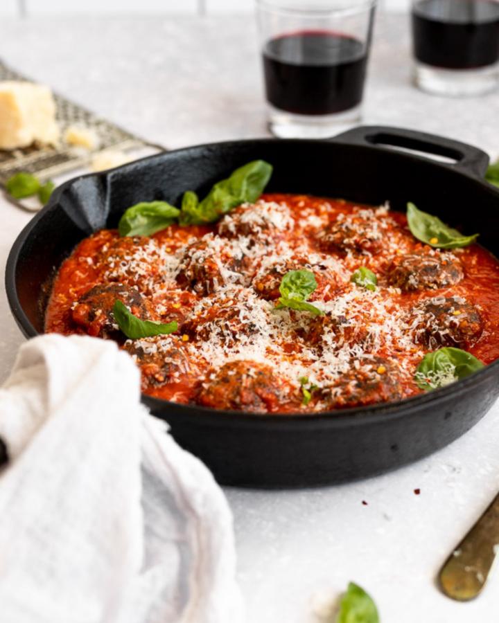 vegetarian meatballs web story