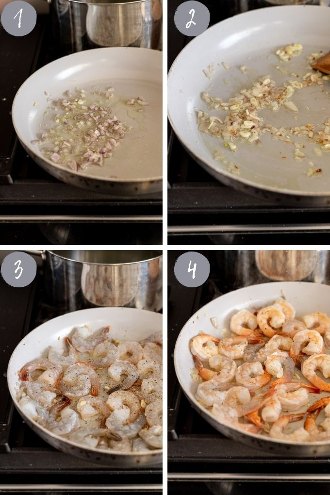 collage of recipe steps 1-4