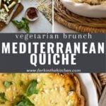 mediterranean quiche pinterest image