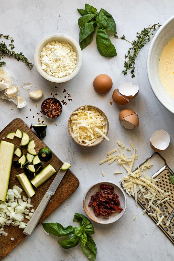 mediterranean quiche ingredients
