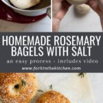 rosemary bagel pin images with text