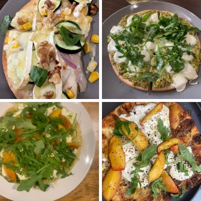 4 images of flatbread made by readers.