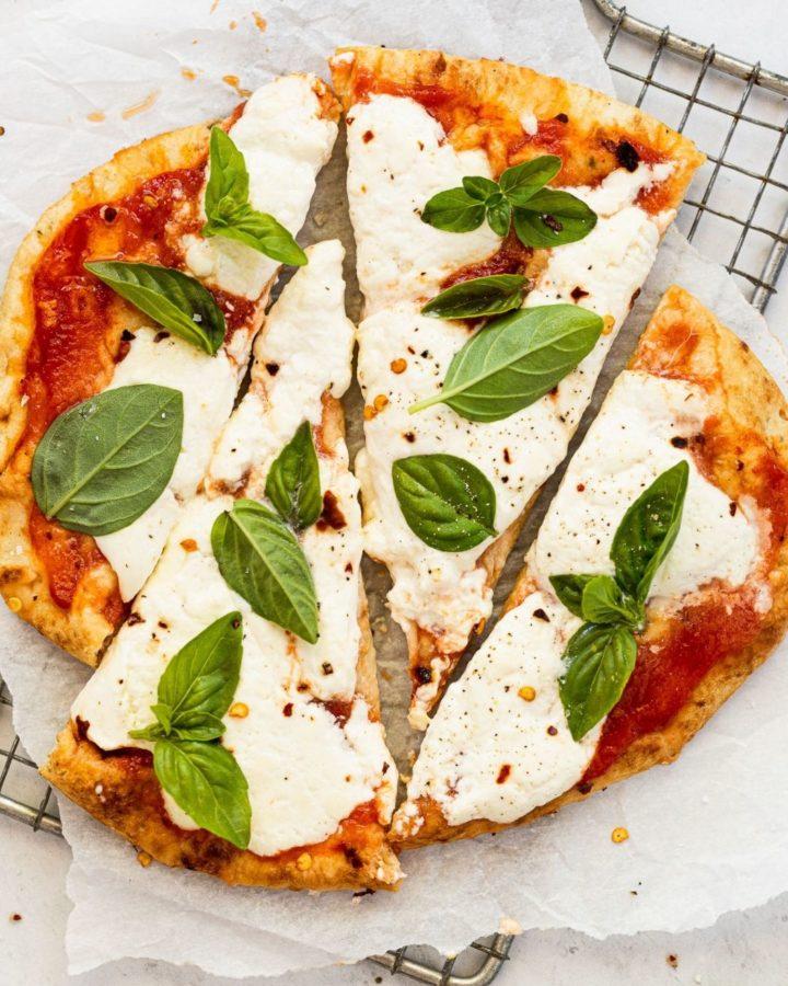 Margherita Flatbread Pizza Slices